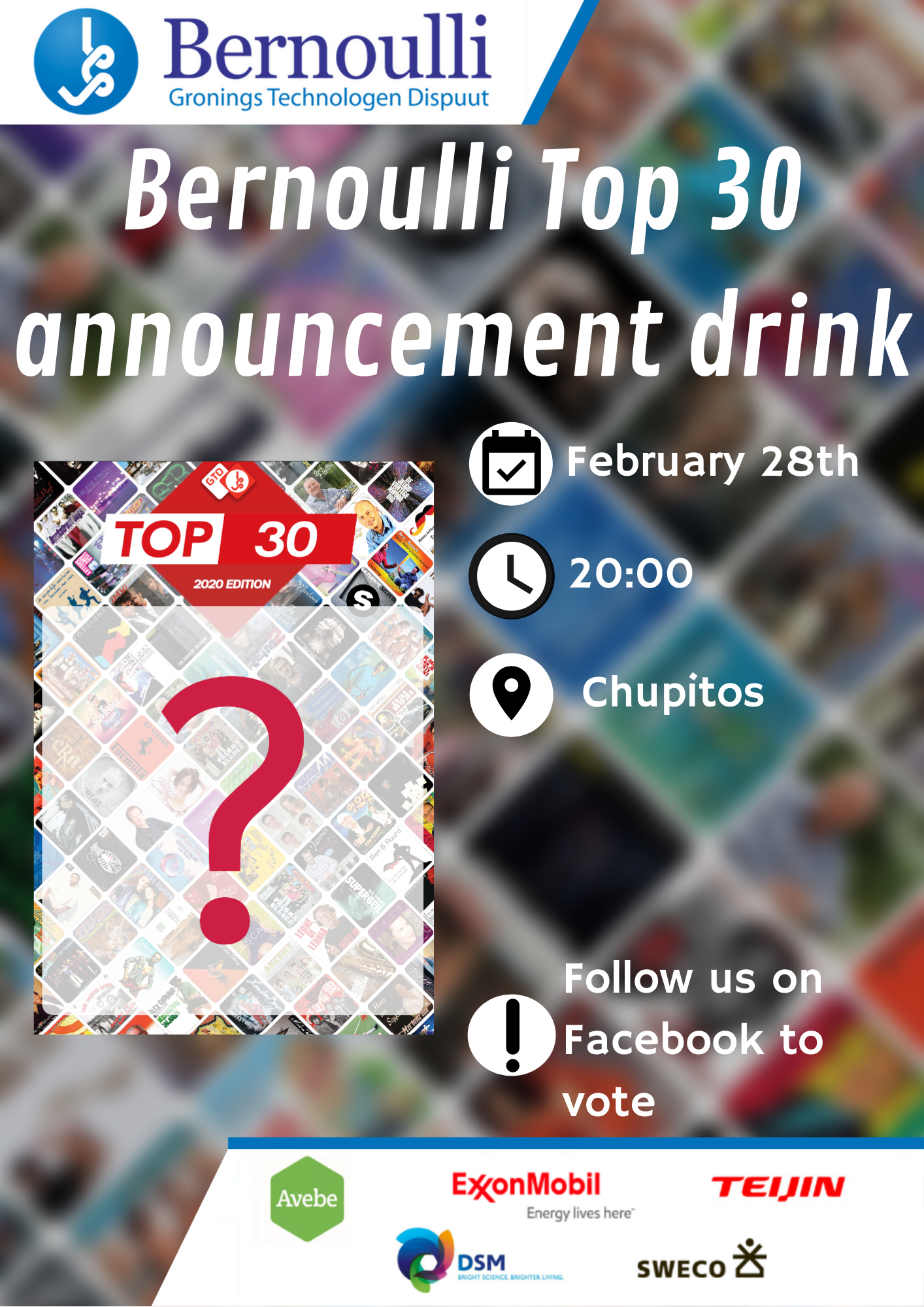 Top30 announcement drink